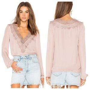 CAMI NYC The Alannah Blouse Oyster Pink Longsleeve